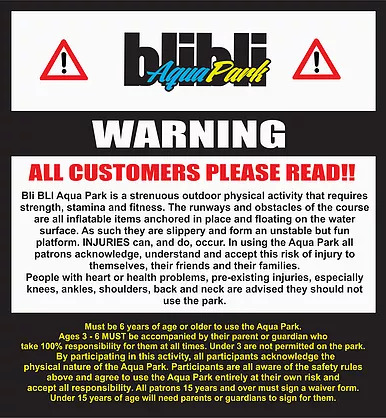 Aqua Park Safety Warning